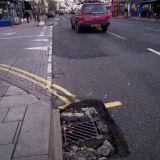 pothole without water